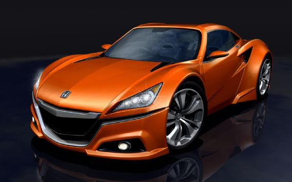 artist's rendering of mini Acura NSX