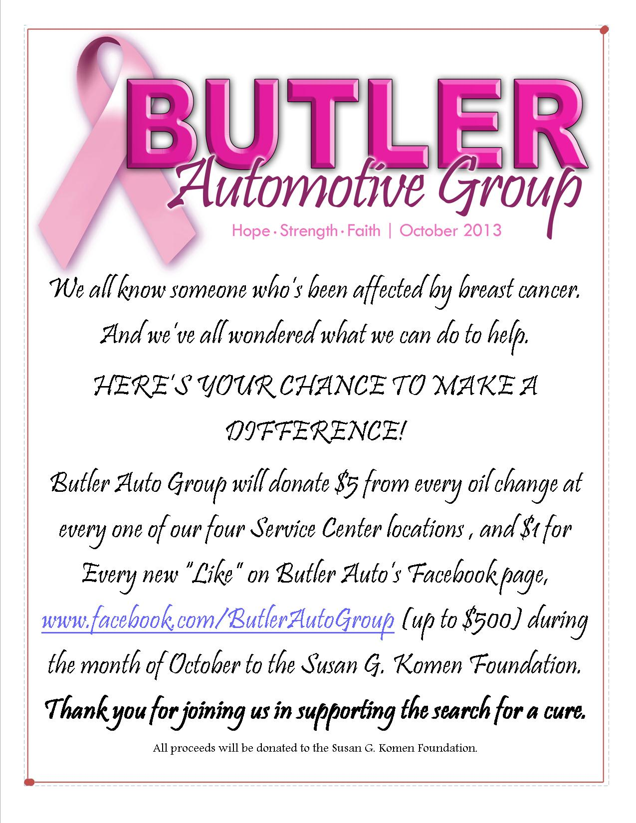 Breast Cancer donation October 2013