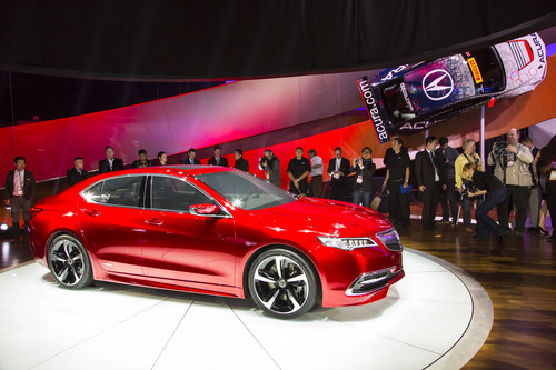 2015 Acura TLX prototype at North American International Auto Show